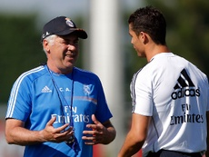 Ancelotti and Ronaldo formed a close bond at Real Madrid. Twitter/RealMadrid