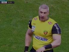 El impresionante físico de Daronco. Captura/SportTVPremiere