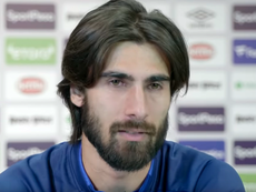 Emotional Andre Gomes. Everton