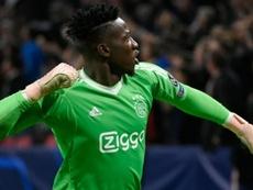 Onana termina contrato en 2021 y el Ajax quiere renovarle. AFP