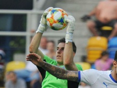 Lunin seeks glory before the opportunity of a lifetime. AFP
