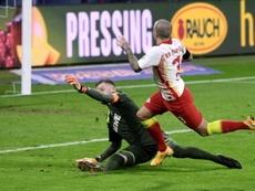 El RB Leipzig quiere ver a Angeliño con España. EFE