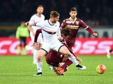 Ansaldi in action for Genoa. GenoaCFC