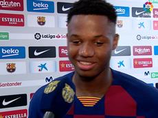 As palavras de Ansu Fati depois de estrear no Camp Nou. FCBarcelona