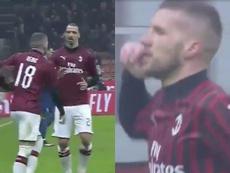 Rebic le está ganando la batalla a Ibrahimovic. Capturas/beINSports