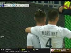 Gonçalves se sacó de la manga un gran disparo. Captura/ESPN2