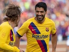 Griezmann espera marcar muchos más con el Barça. EFE
