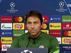Conte habló en la rueda de prensa previa al duelo con el Madrid. Captura/InterTV