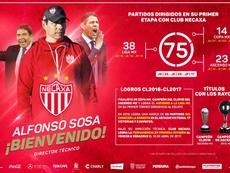 Alfonso Sosa, nuevo entrenador de Necaxa. Necaxa