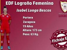 El EDF Logroño ficha a Isabel Longa. EDFLogroño