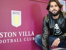 Jota signs for Aston Villa. AstonVilla