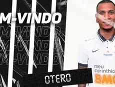 Corinthians anuncia el fichaje de Rómulo Otero. Twitter/Corinthians