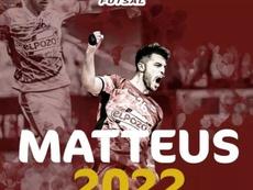Matteus renovó hasta 2022. Captura/ElPozoMurcia