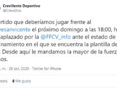 Más partidos suspendidos en el Grupo VI. Twitter/CreviDO