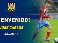 José Carlos, nuevo futbolista 'alfarero'. Twitter/AD_Alcorcon