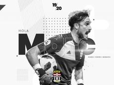 Marc Martínez cambia el Recreativo por el Cartagena. Twitter/FCCartagena_efs