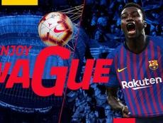 Wagué no se ha vestido de corto todavía. FCBarcelona
