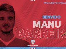 Barreiro ya es del Lugo. Twitter/cdeportivolugo