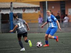 Arantxa participó en la fiesta del Málaga por partida doble. MálagaCF