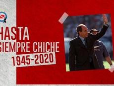 Fallece el 'Chiche' Sosa. Twitter/AAAJOficial
