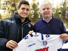 Arteaga, cedido al Hajduk Split. Twitter
