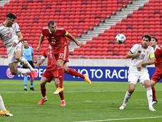 Dzyuba dejó una de las jugadas del partido en forma de asistencia. EFE