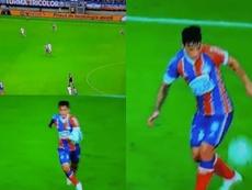 Artur do Bahia dominou com categoria e recebeu aplausos. Twitter/goleada_info
