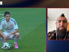 Arturo Vidal pasó revista: James, Cuadrado... ¿y un futuro en Colombia? Captura/WinSports