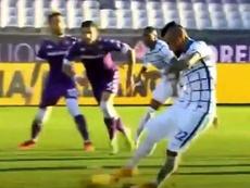 Vidal segna il primo gol. DAZN