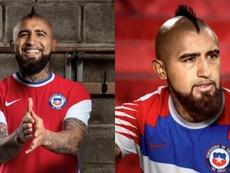 Arturo Vidal presentó las nueves pieles de Chile. Instagram/KingArturo23