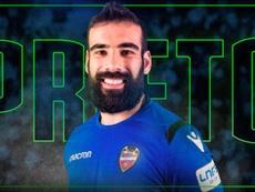 Así anunció el Levante FS la renovación de Prieto. Twitter/LUDfutbolsala