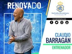 Barragán seguirá en el Recre durante la 2020-21. Twitter/recreoficial