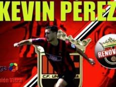 Así anunció el Unión Viera la renovación de Kevin Pérez. CFUniónViera
