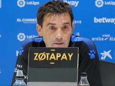 Asier Garitano restó importancia a la goleada. YouTube/DeportivoAlaves
