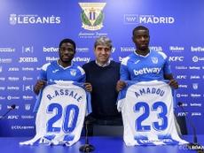 Assalé y Amadou han pasado de no contar a ser insustituibles. Twitter/CDLeganes