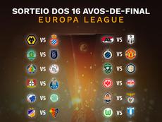 Assim ficaram os duelos da Europa League. BeSoccer
