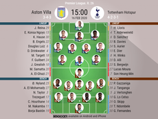 Aston Villa v Spurs, Premier League 2019-20 matchday 26, 16/02/2020 - official line-ups. BeSoccer