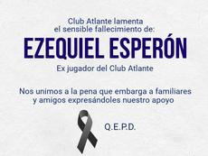 Atlante se despidió en redes sociales de Ezequiel Esperón. Twitter/Atlante