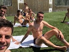 Los internacionales españoles se relajaron al sol. Saúl/Instagram