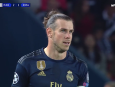 Gareth Bale refuse de porter l'écusson du Real Madrid. Captura/Movistar+