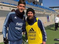 Balerdi podría llegar al Barcelona. Instagram/leobalerdi5