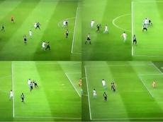 Buen gol de Balotelli. Capturas