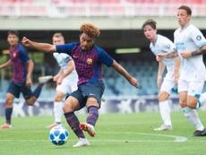 El Barcelona Sub 19 se estrenó con victoria en Europa. Twitter/FCBMasia