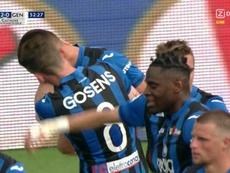 Dos goles rápidos del Atalanta acercaron la Champions. Captura/beINSports