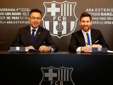 Bartomeu arropó a Valverde. FCBarcelona