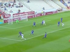 Bela puso el 1-1 ante el Oviedo con un gran gol. Twitter/LaLiga123