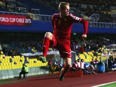 Bélgica ganó con lo justo a Costa Rica y avanzó a semifinales. Twitter