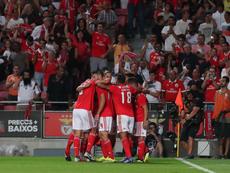 Benfica 3 - 2 Vitória de Guimarães. Twitter @SLBenfica
