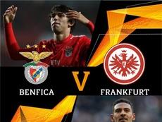 Benfica contra Eintracht Frankfurt nas quartas da UEL. Twitter @EuropaLeague