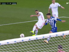 Benzema put the game beyond doubt. Screenshot/Movistar+LaLiga